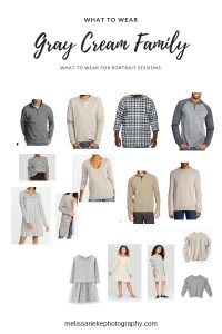 Gray Cream Family Outfits Looks What To Wear Older Kids Pictures Photos