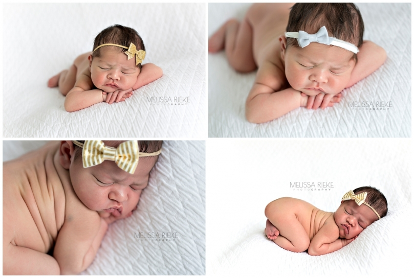 Newborn Baby Girl Photography Kansas City Photographer Posed Newborn