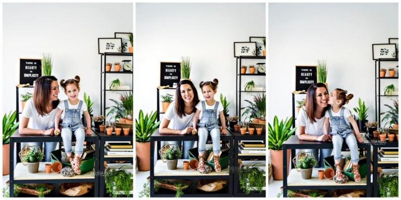Mothers Day Mini Session Photos Pictures Kansas City Photographer In Studio Garden theme Modern Potting Shed