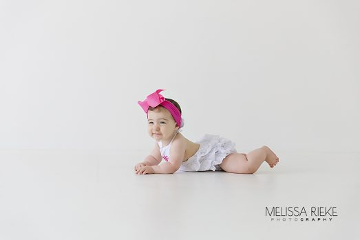 When To Photograph Baby Newborn Sitting Up One Year Portrait Session Kansas City