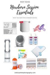 Newborn Session Essentials.  What you must have for a successful newborn photography session.