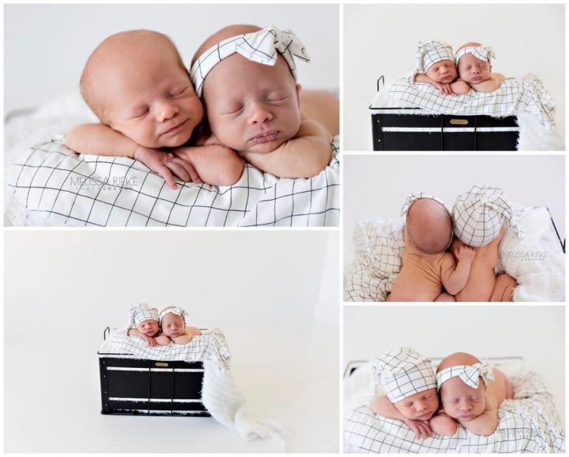 Boy Girl Newborn Photos Surprise Twin Newborn Baby Photos Kansas City Photographer KNOTS Hats