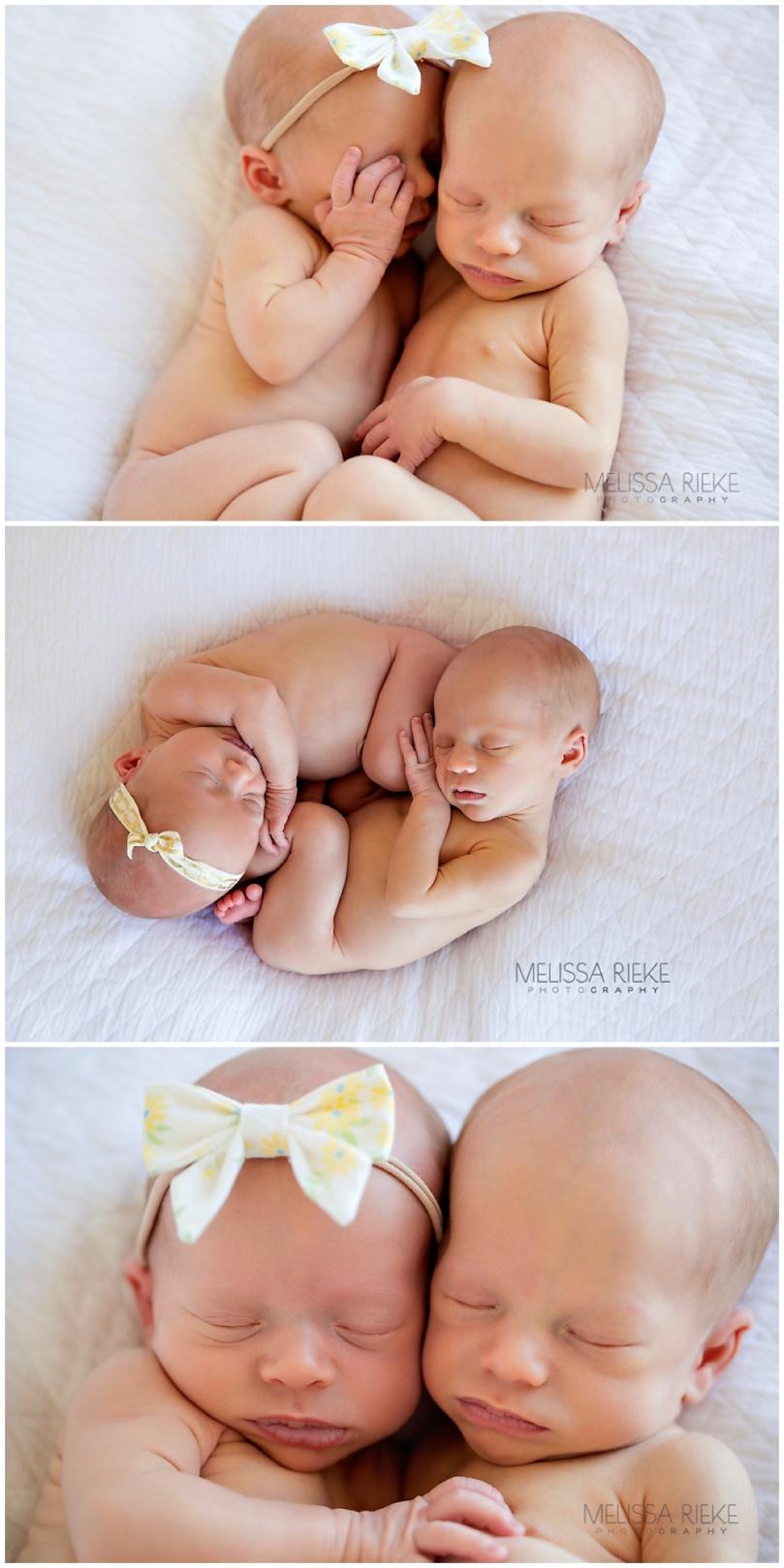 Boy Girl Twin Newborn Surprise Twin Newborn Baby Photos Kansas City Photographer