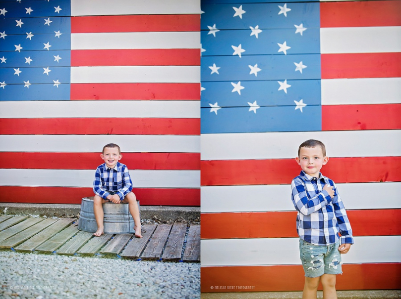 Flag Kansas City Mini Sessions Photographer 4th of July Pictures