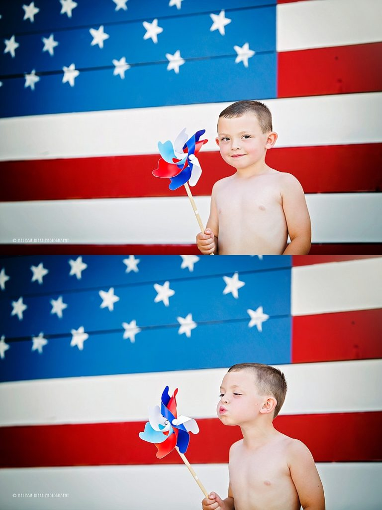American Flag Kansas City Mini Sessions Photographer 4th of July Pictures