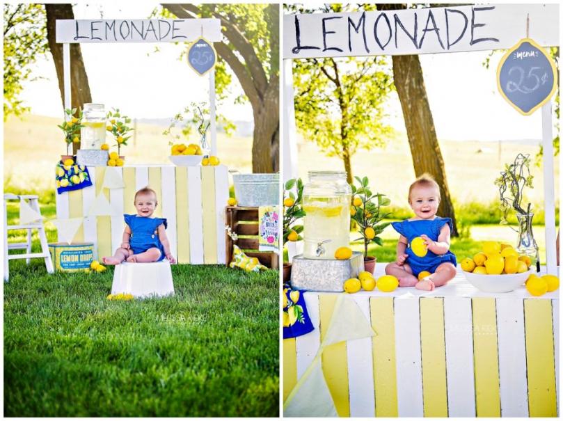 Lemonade Stand Mini Sessions Kansas City Childrens Photographer Summer Lemons PIctures